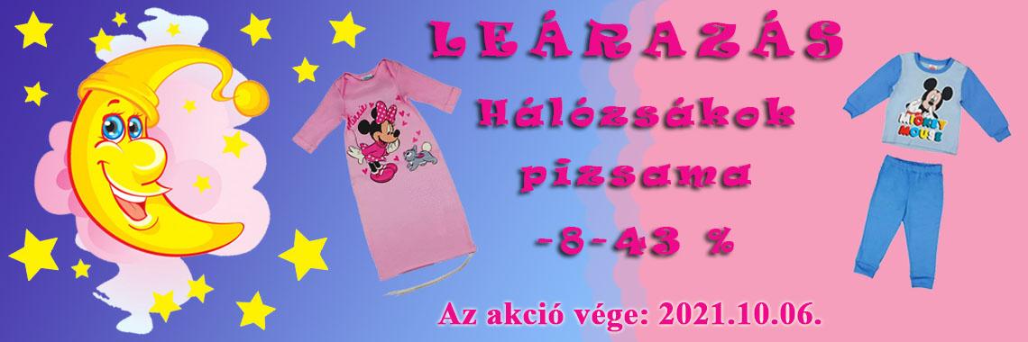 Pizsama, hálózsák akció