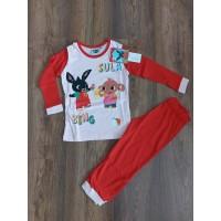Bing gyerek hosszú pizsama - rózsaszín/piros