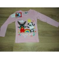 Bing és Pandó hosszú ujjú póló - rózsaszín
