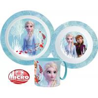 Disney Frozen, Jégvarázs Étkészlet, micro műanyag szett