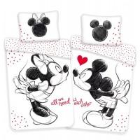 Disney Minnie és Mickey ágyneműhuzat love kétoldalú