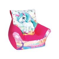 Babzsák fotel  gyerekeknek unikornis TEX5 18346F