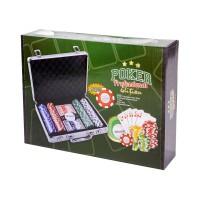 Alu bőröndös póker szett 200db zseton+5 kárt9169-