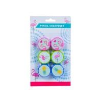 Ceruzahegyező, flamingó téma, 6 db/csomag 380018