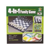 4IN1 társasjáték (sakk, dáma, ki nevet a végén, l