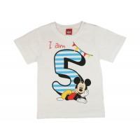 Disney Mickey szülinapos kisfiú póló 5 éves