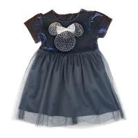 Disney Minnie rövid ujjú| bársony ruha (méret: 92-128)