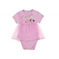 Disney Minnie lányka szülinapos rövid ujjú kombidressz rózsaszín