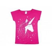 Unikornis lányka rövid ujjú póló pink
