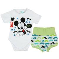 Disney Mickey fiú nyári 2 részes body/short szett Bajusz