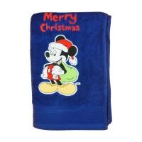 Disney Mickey hímzett frottír törölköző Karácsony (140X70)