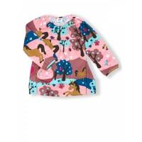 JNY organikus pamut kislány ruha - lovas