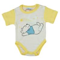 Disney Micimackó rövid ujjú baba body fehér