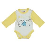 Disney Micimackó, hosszú ujjú baba body fehér