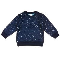 Csillagos sötétkék kisfiú pulóver