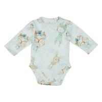 Baby Dreams hosszú ujjú baba body erdő állataival mintás