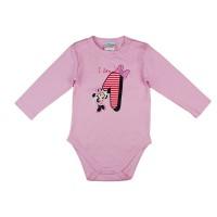 Disney Minnie szülinapos body 1 éves rózsaszín