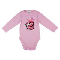 Disney Minnie szülinapos body 2 éves rózsaszín