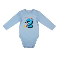 Disney Mickey szülinapos body 2 éves kék
