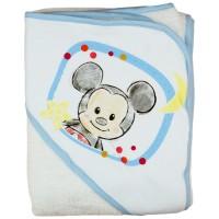 Disney Mickey rajzos kapucnis frottír törölköző 100x100cm