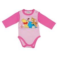 Disney Micimackó és barátai hosszú ujjú baba body rózsaszín