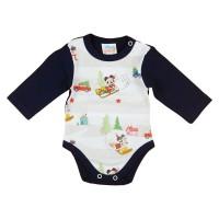 Disney Mickey és Minnie karácsonyi hosszú ujjú baba body