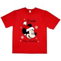 Disney Mickey karácsonyi férfi póló nagypapáknak