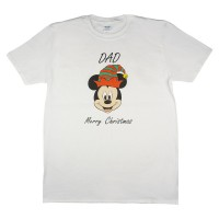 Disney Mickey karácsonyi feliratos póló apáknak