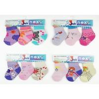 3db-os baba zokni szett, vegyes lányos színekben