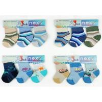3db-os zokni szett vegyes fiús színekben