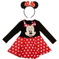 Disney Minnie pöttyös ruha ajándék fejpánttal