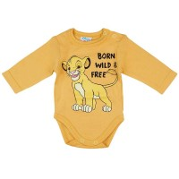 Disney The Lion King/Az oroszlánkirály hosszú ujjú baba body sárga