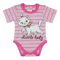 Disney Marie cica rövid ujjú baba body rózsaszín