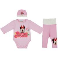 3 részes baba kislány szett Minnie virágos mintával