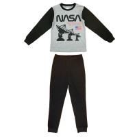 2 részes kisfiú pamut pizsama NASA mintával
