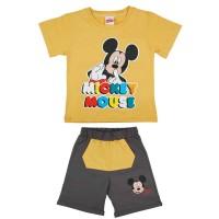 2 részes kisfiú pamut nyári szett Mickey egér mintával