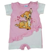 Rövid ujjú kislány baba napozó Bambival