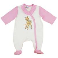 Hosszú ujjú kislány rugdalózó Bambi mintával