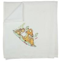 Textil tetra pelenka Bambi mintával 70x70cm