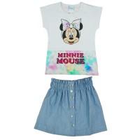 2 részes kislány nyári szett szoknyával Minnie egér mintával