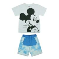 2 részes batikolt rövidnadrágos kisfiú nyári szett Mickey egér mintával