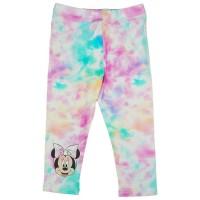 3/4-es batikolt, szivárványos hatású kislány leggings Minnie egér mintával