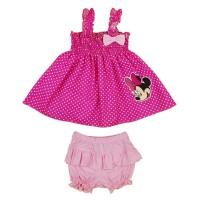 2 részes kislány nyári szett rövidnadrággal, tunikával Minnie egér mintával