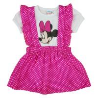 2 részes kislány nyári szett kantáros szoknyával Minnie egérrel
