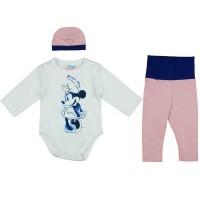 3 részes kislány baba szett Minnie egér mintával