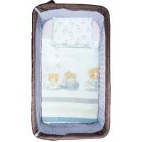 Bubaba 5 részes ágyneműszett Free2Me kiságyhoz - Teddy with heart