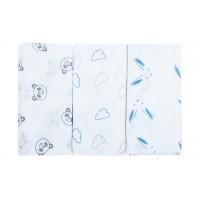 Bubaba textil pelenka 3db - Kék