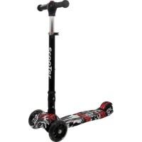 Apollo Free2Move Zik-Zak roller LED-es kerékkel - Fekete piros